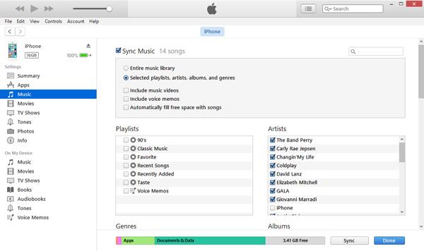Sincronizar canciones iPhone por el iTunes paso 3