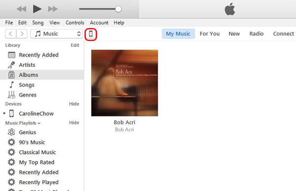 Transferir PC iPhone iTunes paso 2