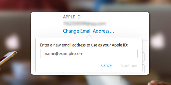 Cambiar cuenta iCloud