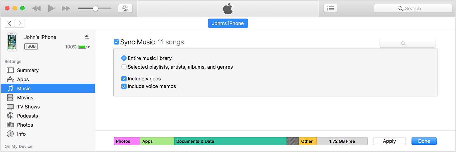 Desabilitar sincronização iTunes