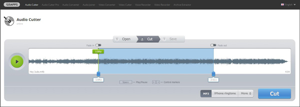Dividir MP3 Audio Cutter paso 3