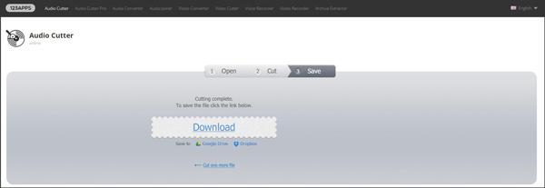 Dividir MP3 Audio Cutter passo