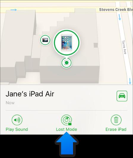 Dispositivo iOS localizado