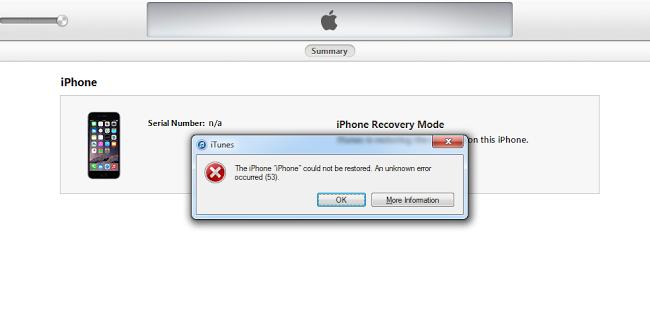error 53 iTunes