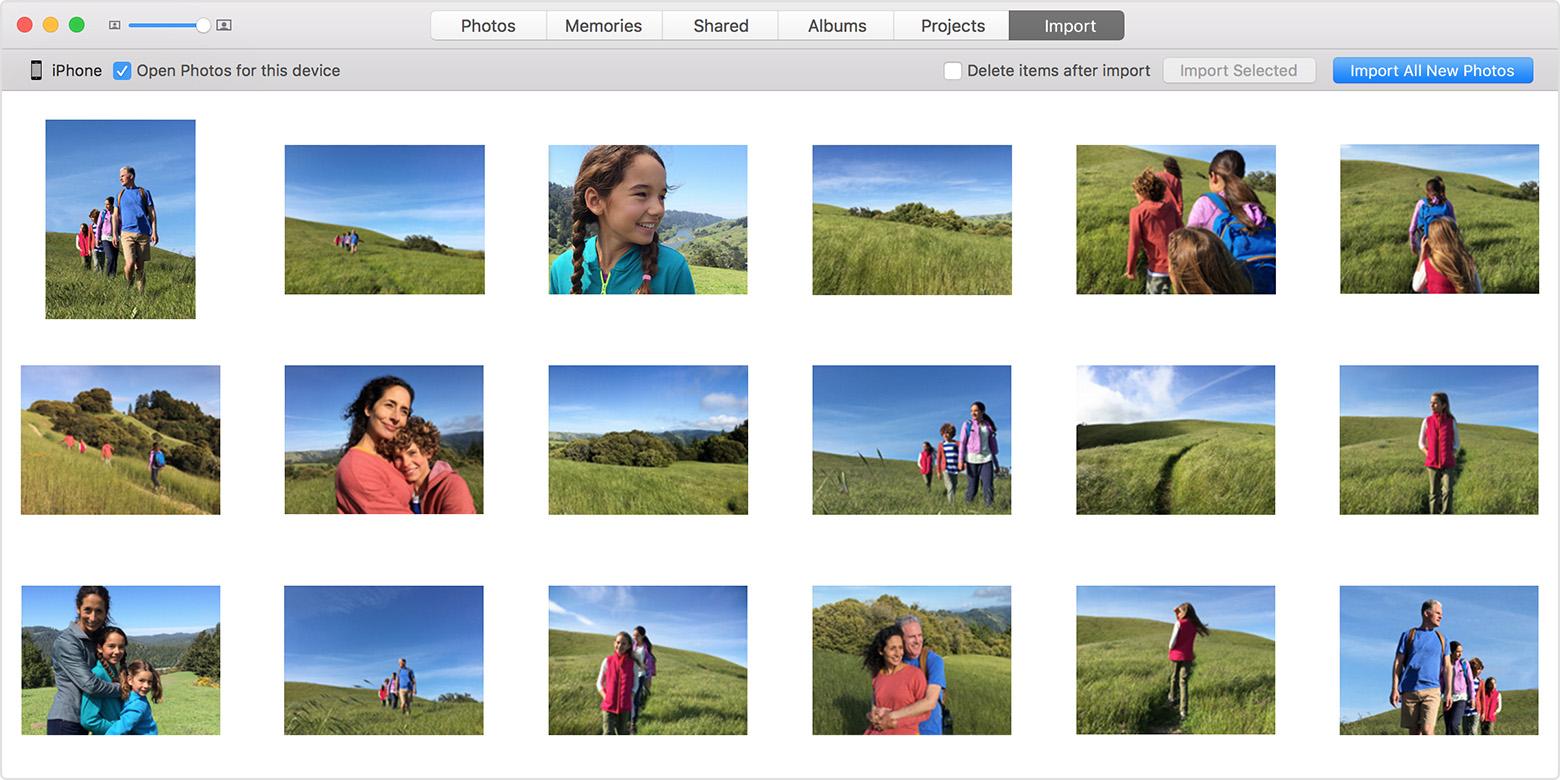 Importar fotos Mac