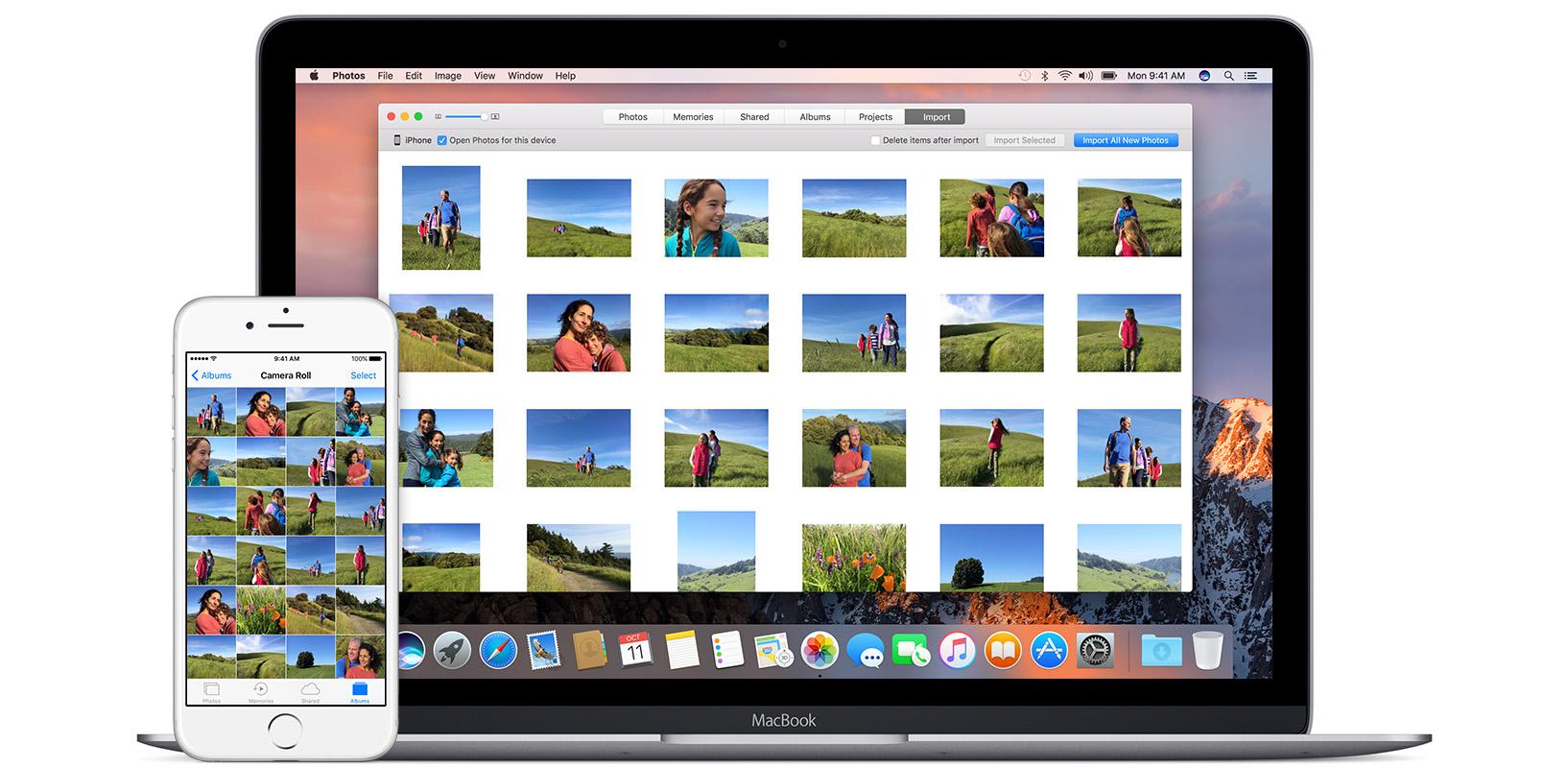 Importar fotos dispositivos iOS