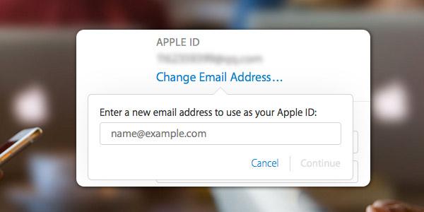 Mudar conta iCloud