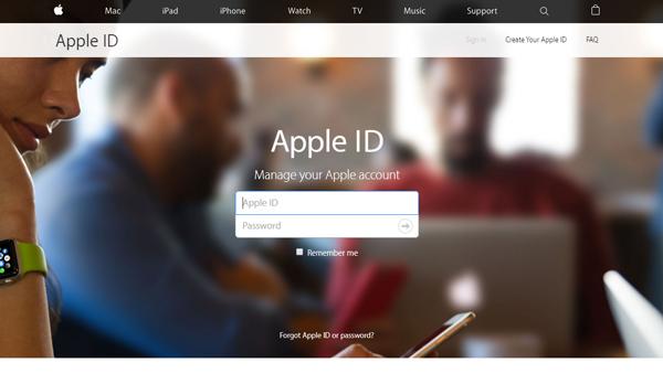 Mudar senha iCloud