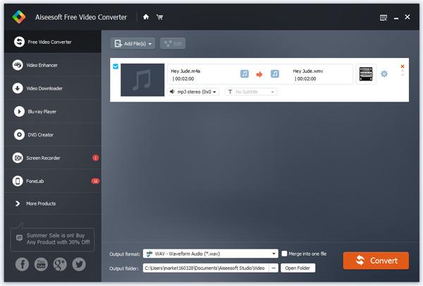 Paso 2 Convertir audio Aiseesoft VCU