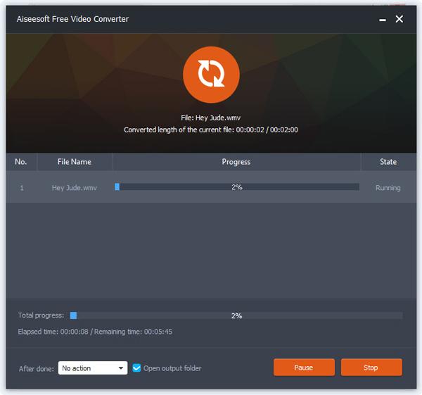 Passo 4 Converter áudio Aiseesoft VCU