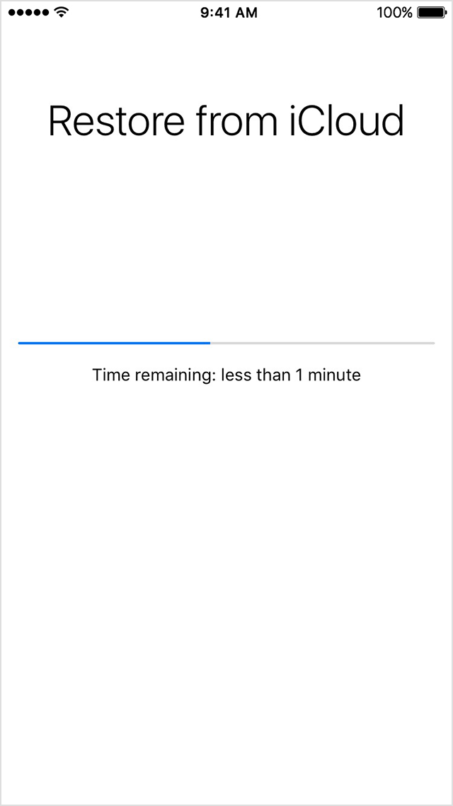 Restaurar a partir do iCloud