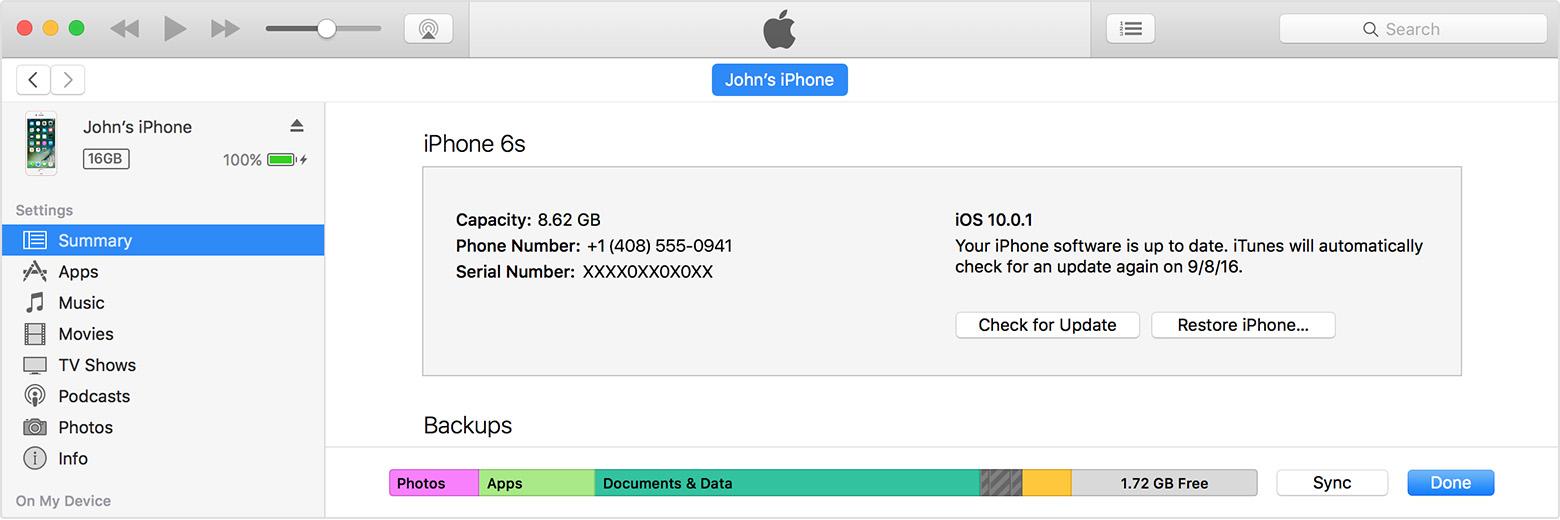 Sincronizar iTunes passo 3