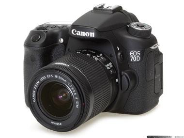 Melhores câmeras vlog Canon 70D