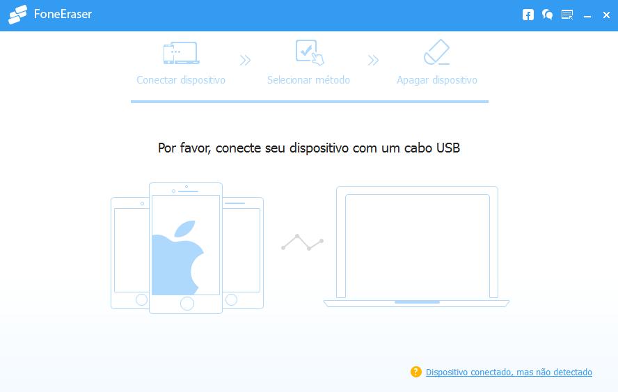 Abra o programa FoneEraser para desativar buscar meu iphone