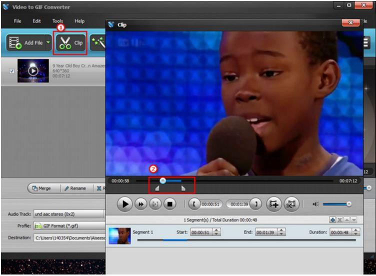 Criar GIF Youtube - passo 3