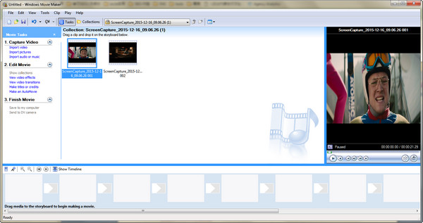 Editor vídeos Windows Movie Maker
