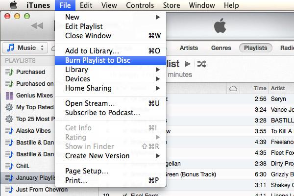 Passo 3 Gravar CD músicas iTunes