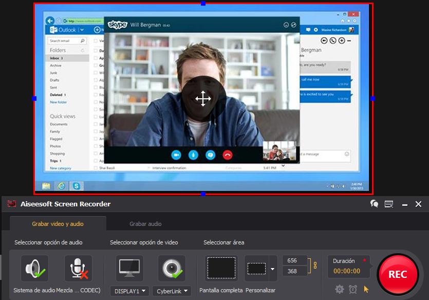 Grave vídeos da webcam com o Screen Recorder