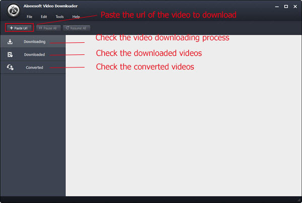 Passo 1 baixar playlist Youtube Aiseesoft