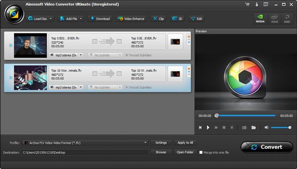 Editar vídeos FLV Aiseesoft Video Converter Ultimate passo 2