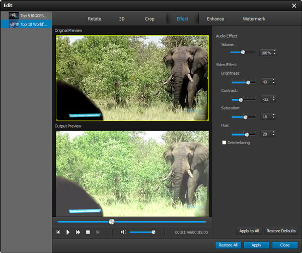 Editar vídeos FLV Aiseesoft Video Converter Ultimate passo 3