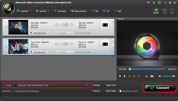 Editar vídeos FLV Aiseesoft Video Converter Ultimate passo 4
