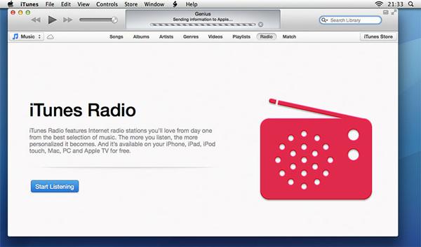 selecionar musica e depois radio