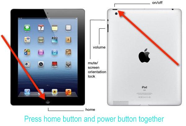 corregir error de pantalla ipad
