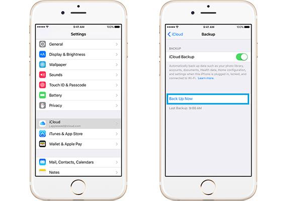 Backup iCloud iPhone