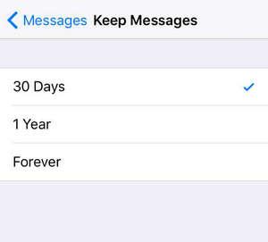 delete mensagens antigas