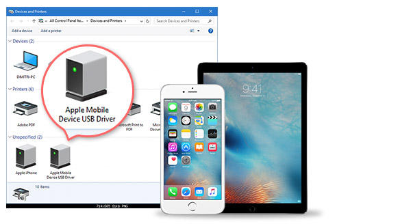 driver dispositivo movel apple