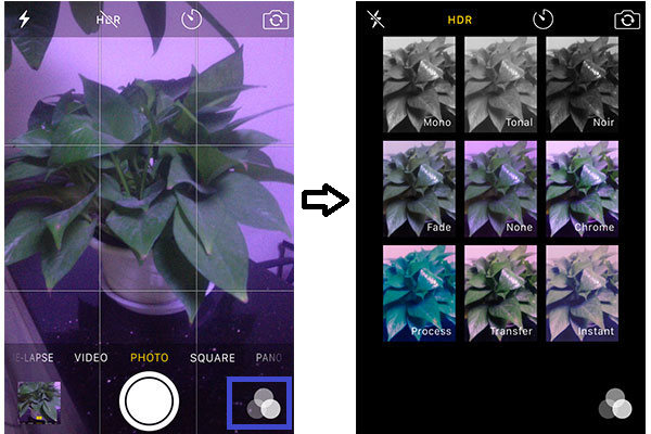 filtros camera