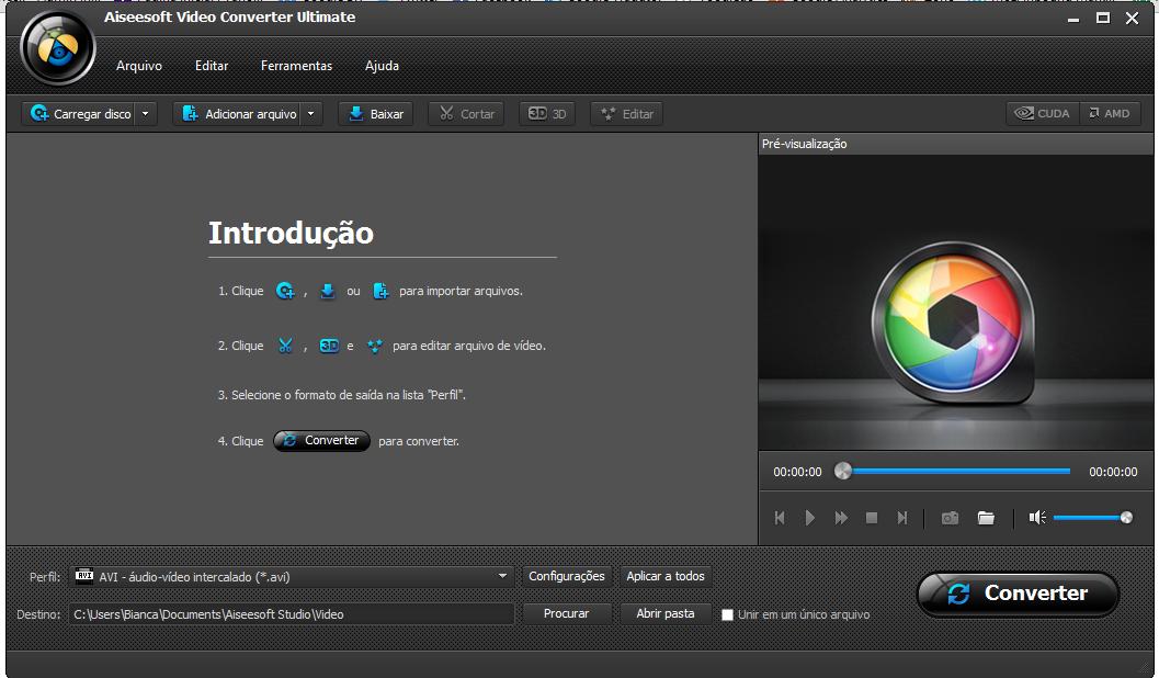 Instale e abra o Aiseesoft mp4 virtualdub
