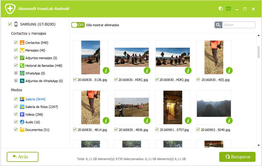 FoneLab Android - recuperar archivos borrados