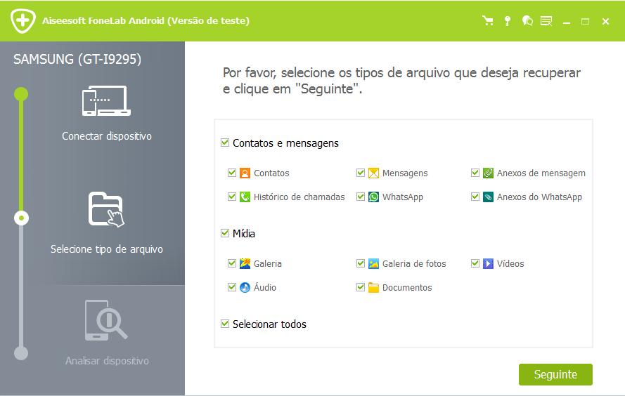 FoneLab Android - recuperar arquivos excluídos