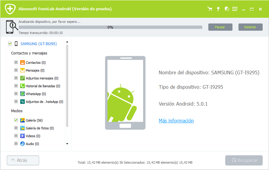 Analizando dispositivo Android