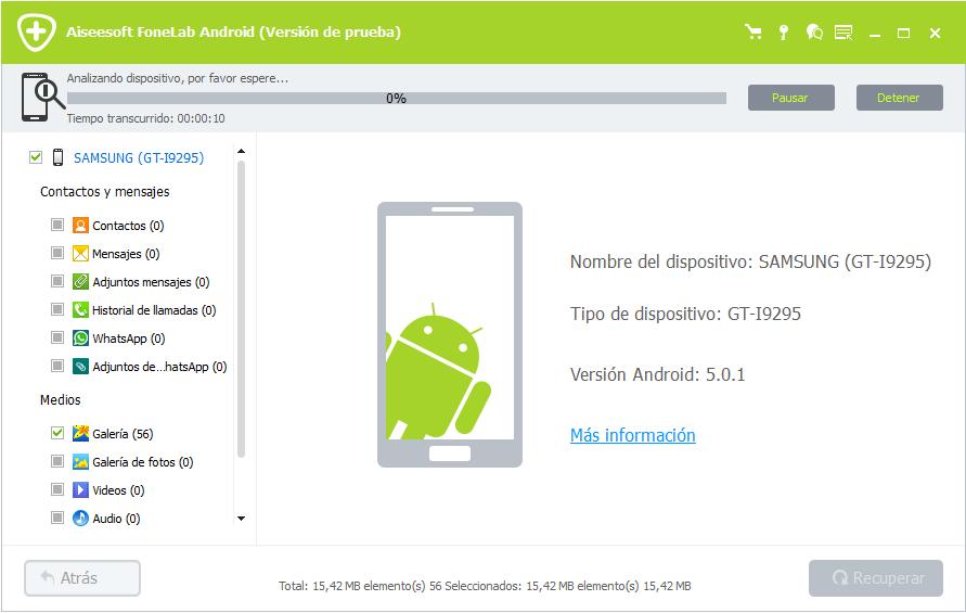 Analizando dispositivo Android