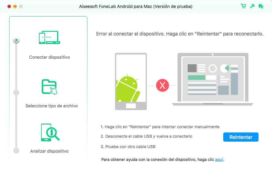 FoneLab Android Mac - recuperar archivos borrados