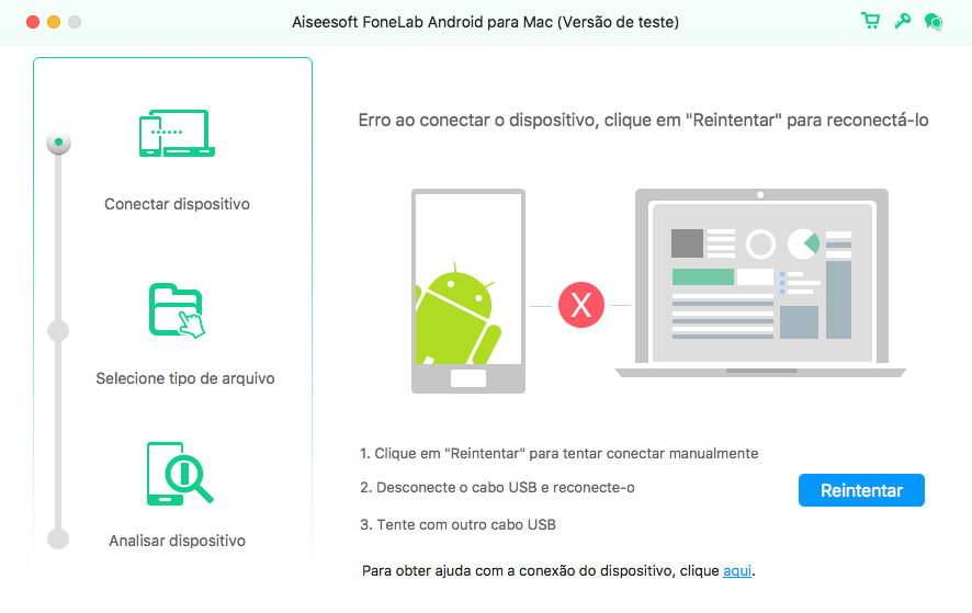 FoneLab Android Mac - recuperar fotos apagadas