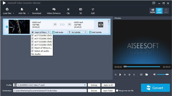 añadir audio a vídeo con Video Converter Ultimate