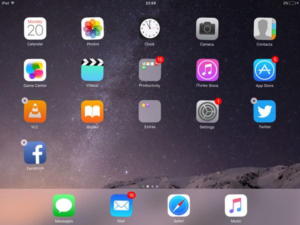 como deletar apps no ipad