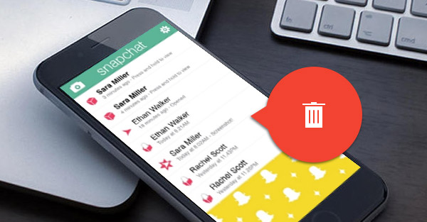 como deletar mensagens do snapchat