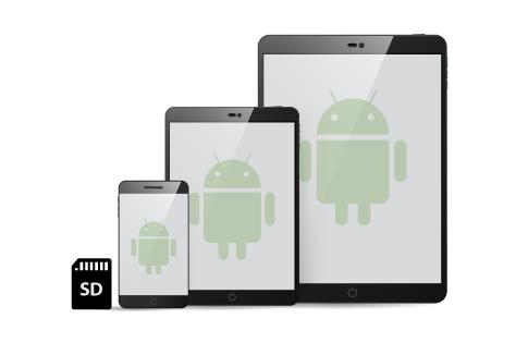 Compatible con smartphone y tablet Android y tarjetas SD