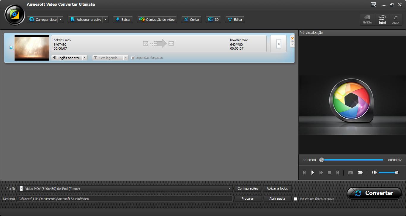 Abra o programa e adicione seus arquivos em MKV