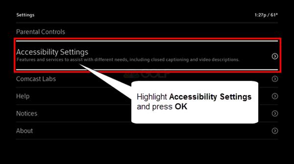 configuracoes de acessibilidade
