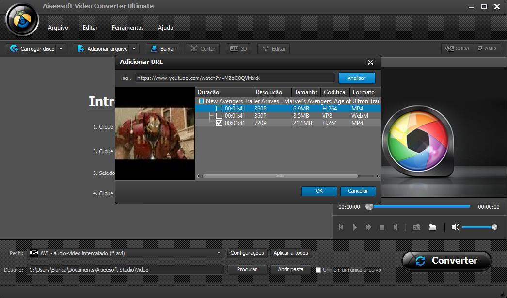 Passo 4 converter vídeo Youtube WAV