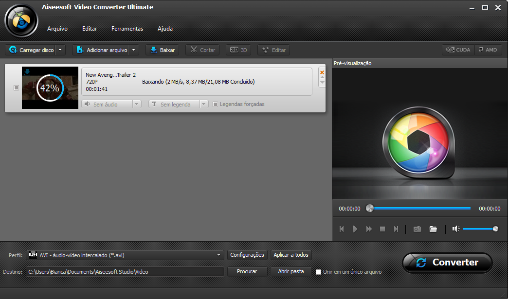 Passo 2 converter vídeo baixado WAV