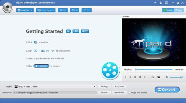 Passo 1 converter vídeo DVD
