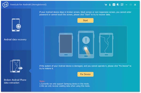 Passo 1 iniciar FoneLab conectar dispositivo