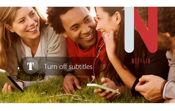 Desabilitar legendas Netflix